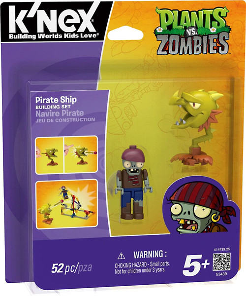K'NEX Plants vs. Zombies Pirate Ship Set #53439
