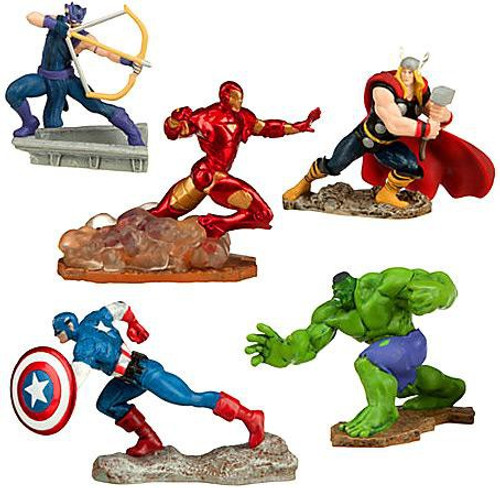 Disney Marvel Avengers Assemble 5-Piece Exclusive PVC Figure Set