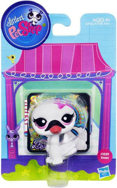 Littlest Pet Shop Bobble In Style Swan Figure #3559