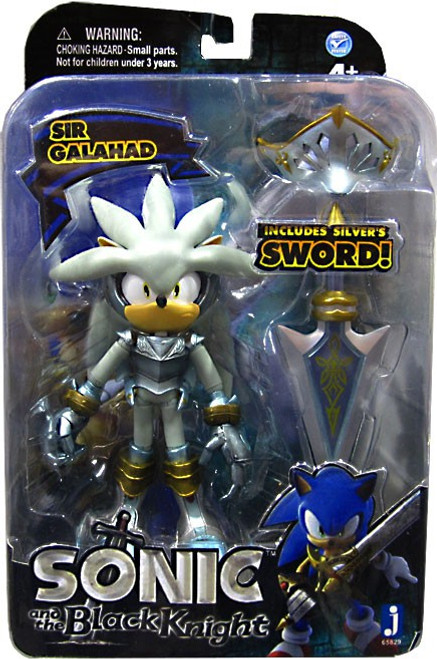 Sonic The Hedgehog Sonic and the Black Knight Silver Action Figure [Sir Galahad]