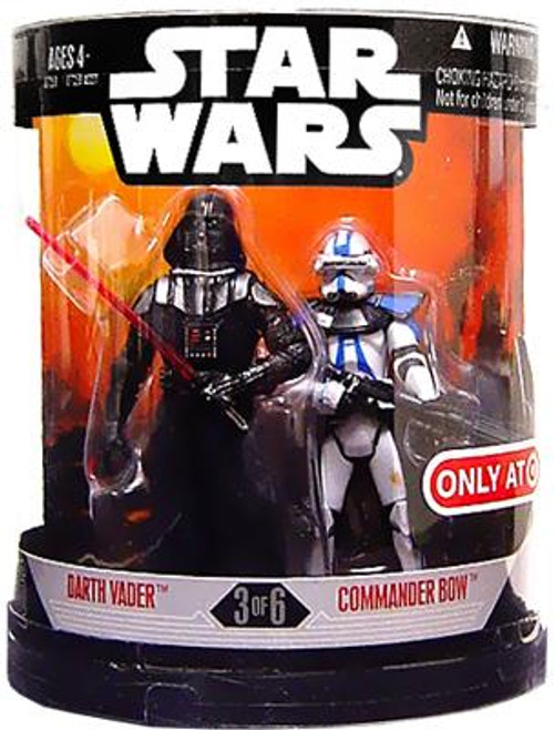 Star Wars Revenge of the Sith Order 66 2007 Darth Vader & Commander Bow Exclusive Action Figure 2-Pack #3 of 6