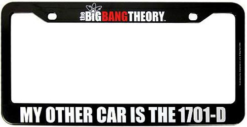 The Big Bang Theory My Other Car Is The 1701-D License Plate Frame