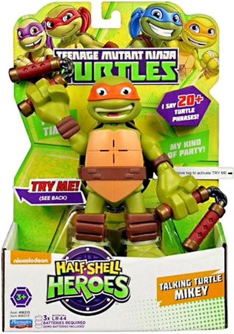 Teenage Mutant Ninja Turtles TMNT Half Shell Heroes Michalangelo Action Figure [With Sound]