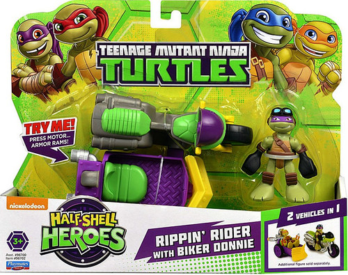 Teenage Mutant Ninja Turtles TMNT Half Shell Heroes Donatello Motorcycle Action Figure Vehicle