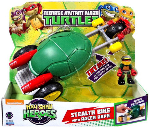 Teenage Mutant Ninja Turtles TMNT Half Shell Heroes Stealth Bike Action Figure Vehicle