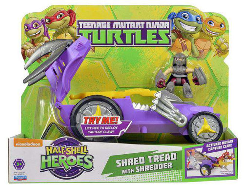 Teenage Mutant Ninja Turtles TMNT Half Shell Heroes Shredder Mobile Action Figure Vehicle
