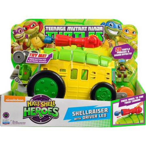 Teenage Mutant Ninja Turtles TMNT Half Shell Heroes Shellraiser Action Figure Vehicle