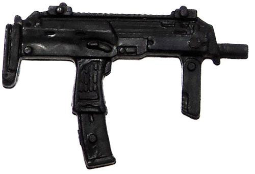 GI Joe Loose Weapons Uzi with Fore Grip Action Figure Accessory [Black Loose]