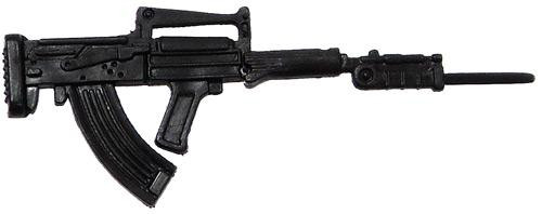 GI Joe Loose Weapons FAMAS Submachine Gun Action Figure Accessory [Black Loose]