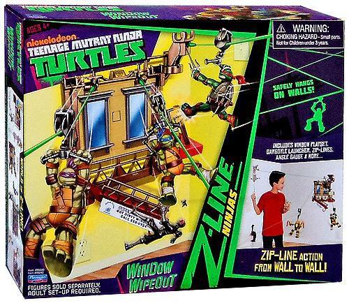 Teenage Mutant Ninja Turtles Nickelodeon Window Wipeout Playset