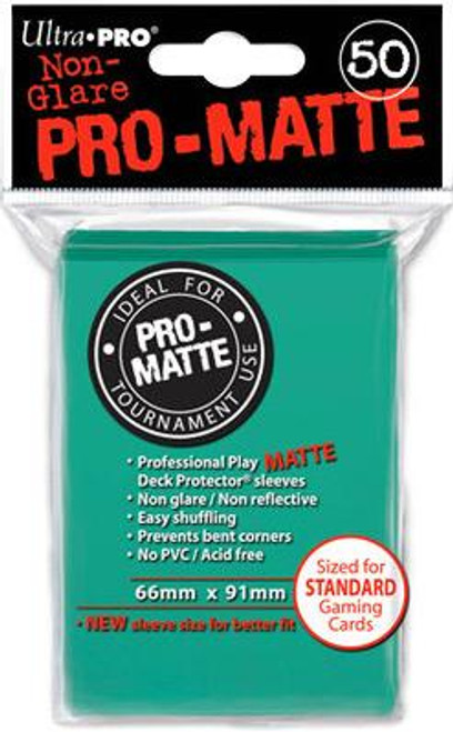 Ultra Pro Card Supplies Non-Glare Pro-Matte Aqua Standard Card Sleeves [50 ct]