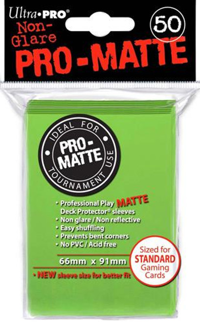 Ultra Pro Card Supplies Non-Glare Pro-Matte Lime Green Standard Card Sleeves [50 ct]