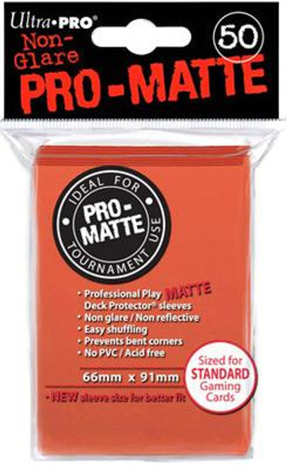 Ultra Pro Card Supplies Non-Glare Pro-Matte Peach Standard Card Sleeves [50 ct]