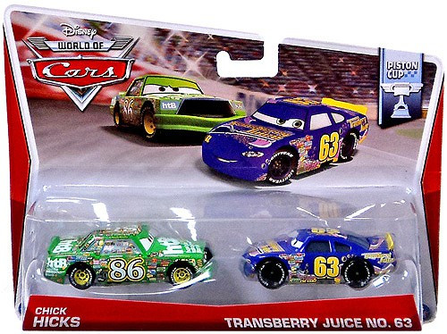 Disney Cars The World of Cars Series 2 Chick Hicks & Transberry Juice No. 63 Diecast Car 2-Pack #6/16