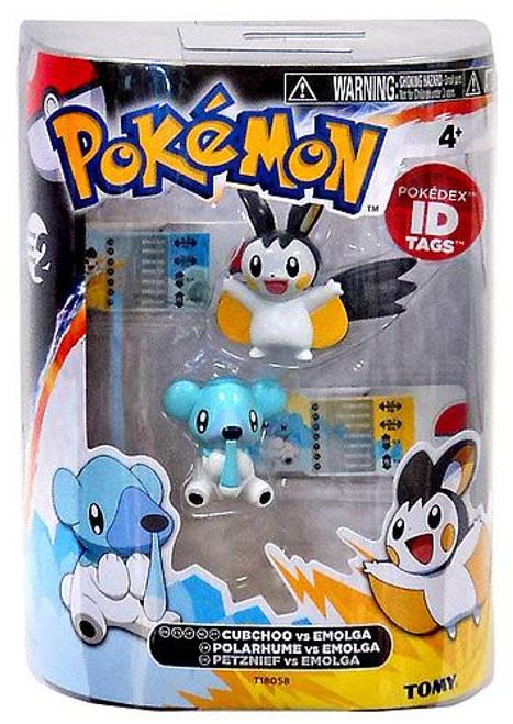 Pokemon Black & White Basic Cubchoo vs. Emolga Figure 2-Pack
