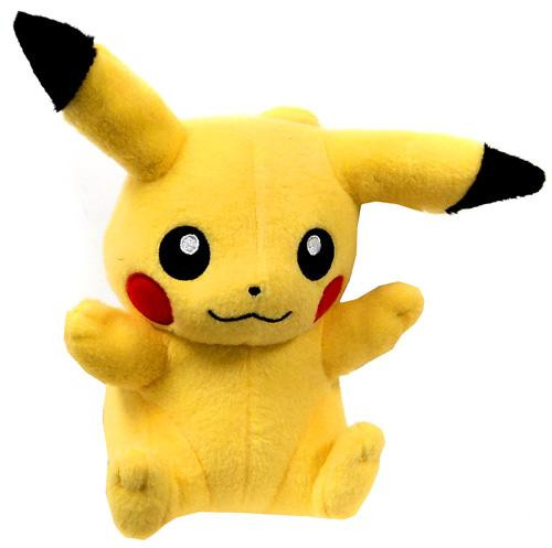Pokemon XY Pikachu 8-Inch Plush [Sitting Closed Mouth]