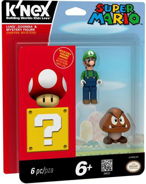 K'NEX Super Mario Luigi, Goomba & Mystery Exclusive Figure 3-Pack