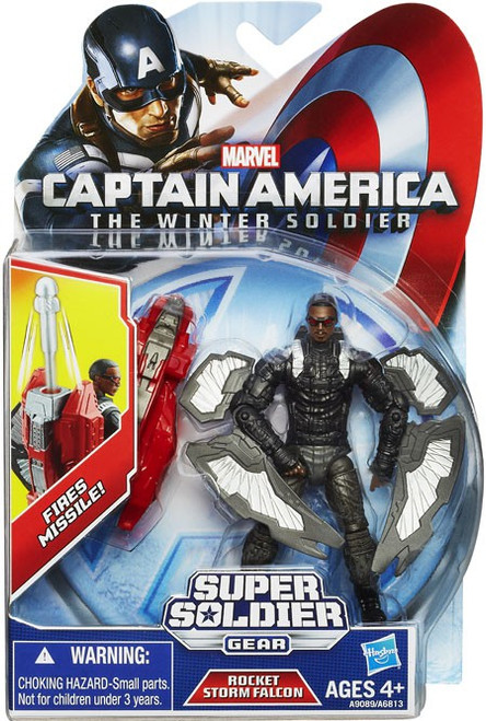 Captain America The Winter Soldier Super Soldier Gear Rocket Storm Falcon Action Figure