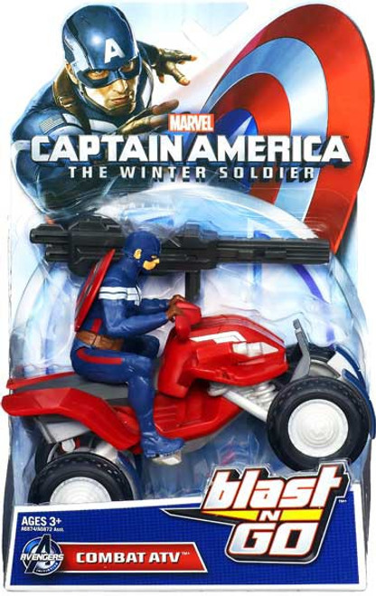 Captain America The Winter Soldier Blast N Go Combat ATV 7-Inch Quick Launch Vehicle