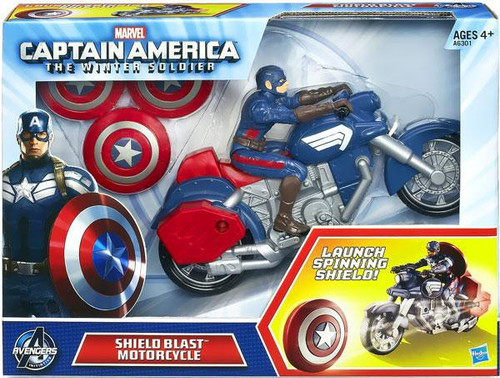 Captain America The Winter Soldier Shield Blast Motorcycle 7-Inch