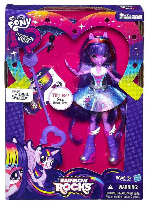 My Little Pony Equestria Girls Rainbow Rocks Deluxe Singing Twilight Sparkle 9-Inch Doll