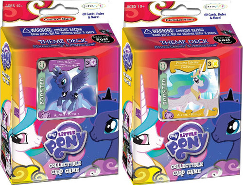 My Little Pony Collectible Card Game Set of Both Canterlot Nights Theme Decks