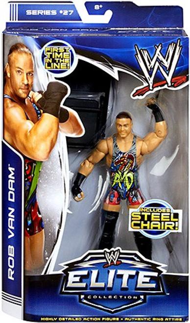 WWE Wrestling Elite Series 27 Rob Van Dam Action Figure [Steel Chair]