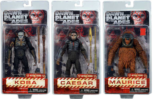 NECA Dawn of the Planet of the Apes Series 1 Set of 3 Action Figures