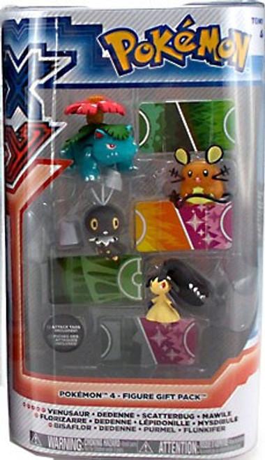 Pokemon XY Basic Venusaur, Dedenne, Scatterbug & Mawile Figure 4-Pack