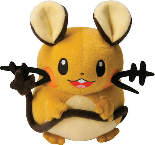 Pokemon XY Dedenne 8-Inch Plush [Mouth Open Showing Tongue]