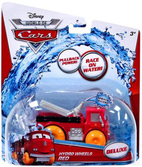 Disney Cars The World of Cars Hydro Wheels Red Plastic Car