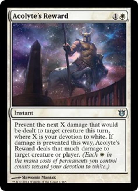 MtG Born of the Gods Uncommon Acolyte's Reward #1