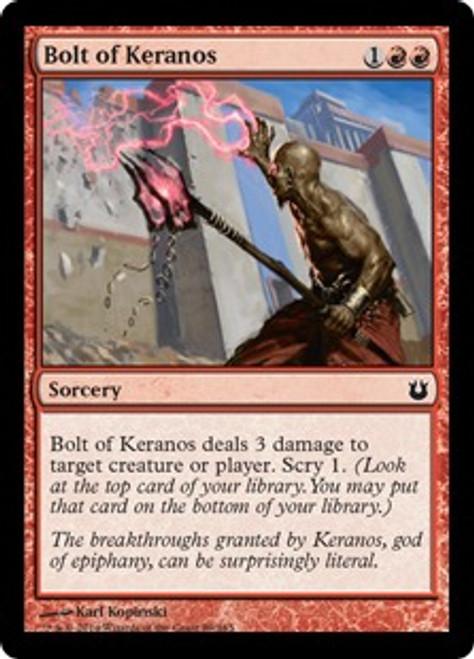 MtG Born of the Gods Common Bolt of Keranos #89