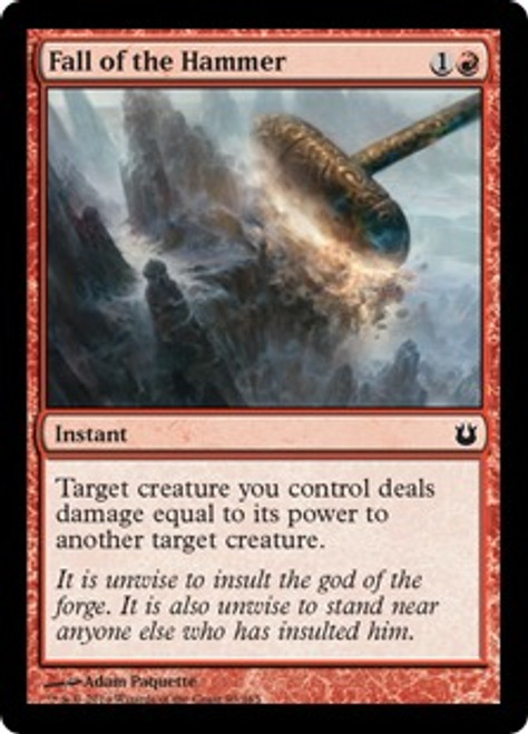 MtG Born of the Gods Common Fall of the Hammer #93