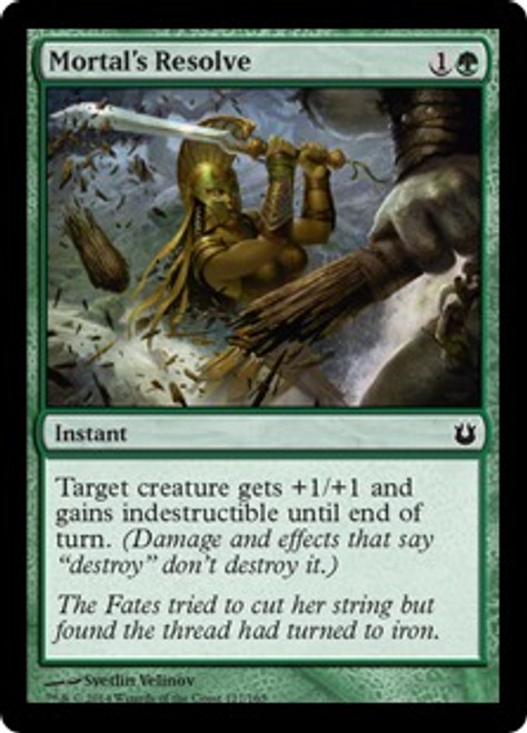 MtG Born of the Gods Common Mortal's Resolve #127