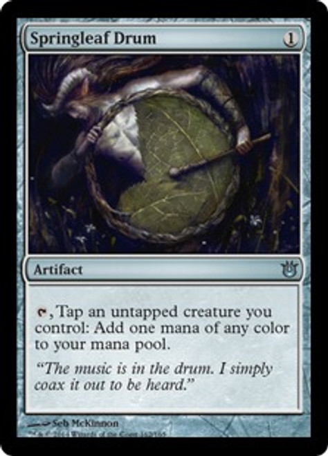 MtG Born of the Gods Uncommon Springleaf Drum #162