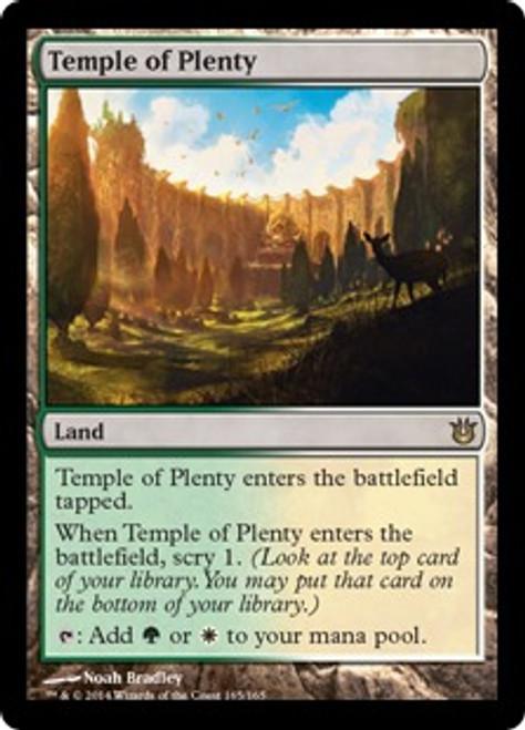 MtG Born of the Gods Rare Temple of Plenty #165