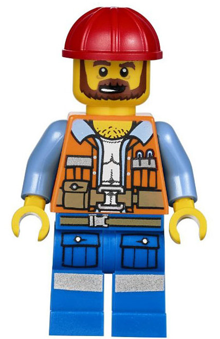 The LEGO Movie Loose Frank the Foreman Minifigure