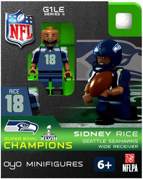 Seattle Seahawks NFL Super Bowl XLVIII Champions Sidney Rice Minifigure