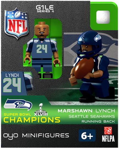 Seattle Seahawks NFL Super Bowl XLVIII Champions Marshawn Lynch Minifigure