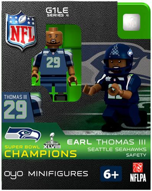 Seattle Seahawks NFL Super Bowl XLVIII Champions Earl Thomas III Minifigure