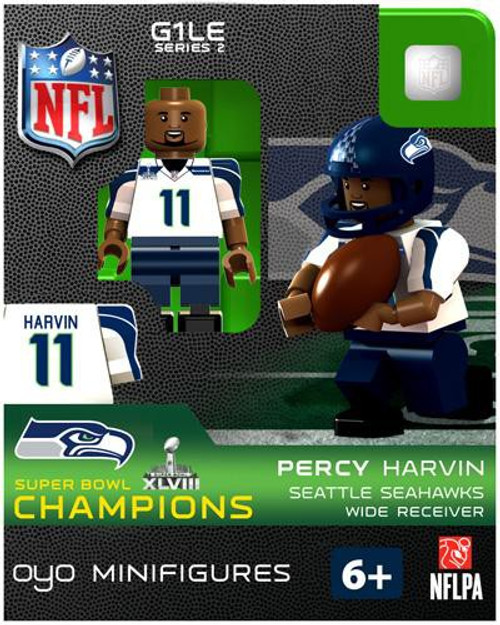 Seattle Seahawks NFL Super Bowl XLVIII Champions Percy Harvin Minifigure