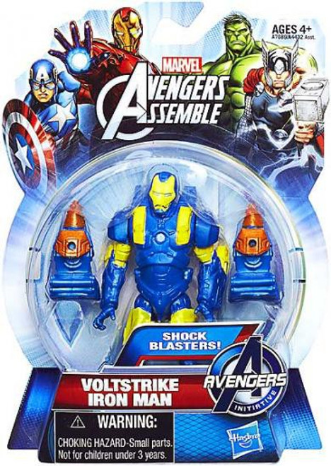 Marvel Avengers Assemble Voltstrike Iron Man Action Figure [Shock Blasters]