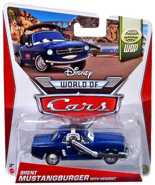 Disney Cars The World of Cars Series 2 Brent Mustangburger with Headset Diecast Car