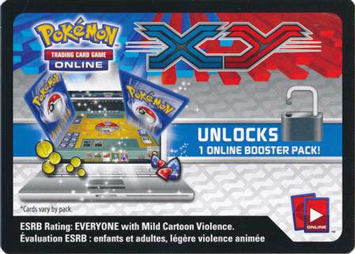 X & Y Online Code Card Promo Code Card for Pokemon TCG Online