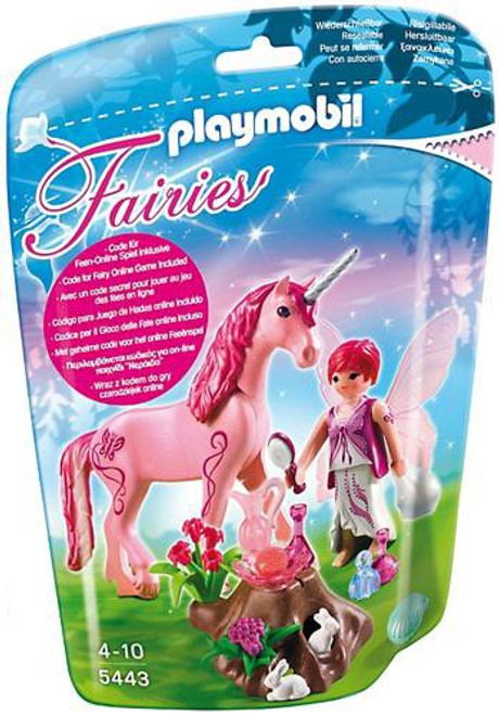 Playmobil Fairies Care Fairy with Rose Red Unicorn Set #5443