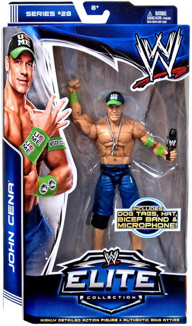 WWE Wrestling Elite Series 28 John Cena Action Figure [Dog Tags, Hat, Bicep Band & Mic]