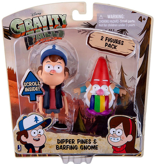 Disney Gravity Falls Dipper Pines & Barfing Gnome Action Figure 2-Pack