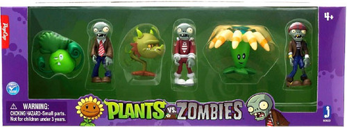 Plants vs. Zombies 2-Inch Figure 6-Pack