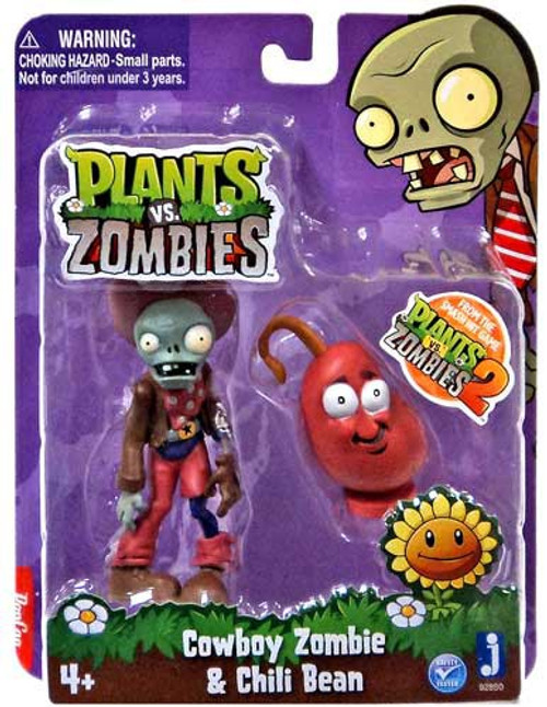 Plants vs. Zombies 2 Cowboy Zombie & Chili Bean 3-Inch Figure 2-Pack